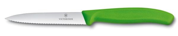 Victorinox SwissClassic Gemüsemesser 10 cm Wellenschliff Grün