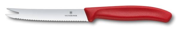 Victorinox SwissClassic Käse- und Wurstmesser Rot